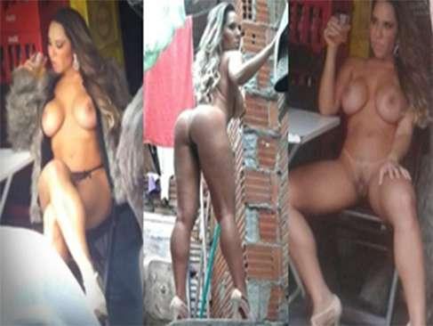 Mulher Melão peladona em favela em Heliópolis